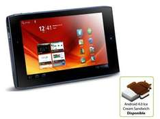Tablette ACER Iconia Tab A100 7'' capacitif NVIDIA Tegra 2 (1 Ghz) Wi-Fi 8 Go couleur Red Cherry ou noir