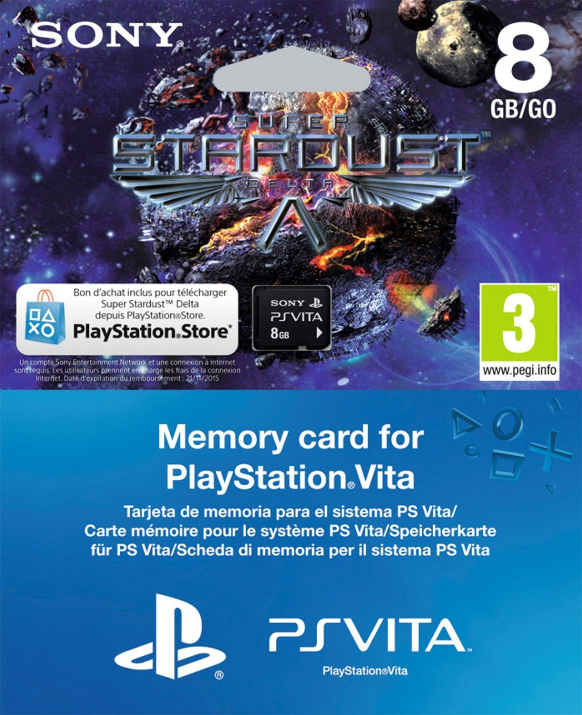 Carte Mémoire Sony 8 Go + Super Stardust pour Playstation Vita