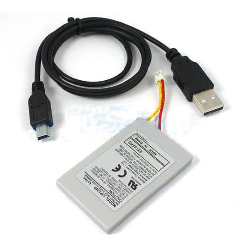 Batterie de rechange 1800mAh manette PS3 + cable USB