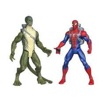 Hasbro 2 figurines lance eau SpiderMan et Lezard