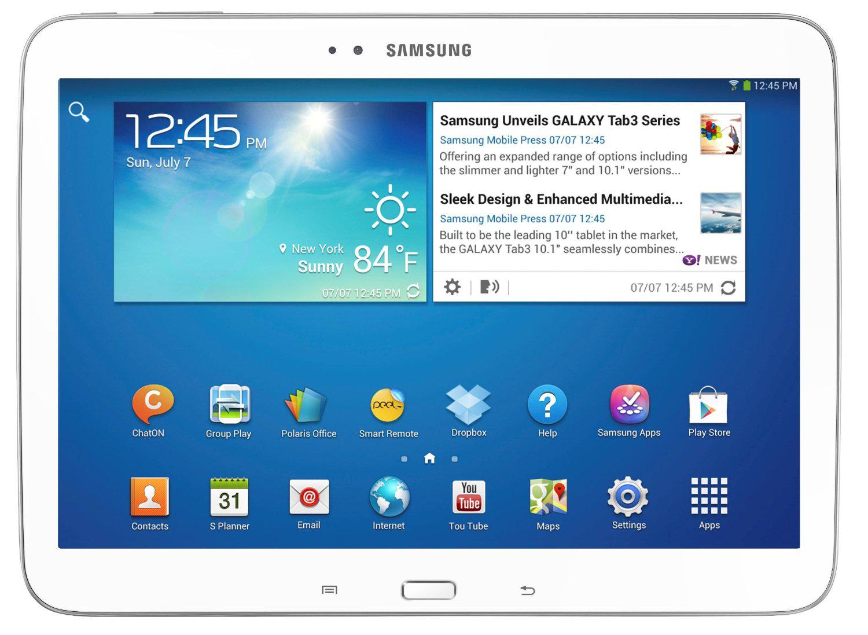 """Samsung Galaxy Tab 3 10"""" 16Go WiFi en blanc ou noir (avec ODR 30€ + Code Promo)"""