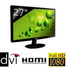 "Ecran PC 27"" Acer S271HL - Full HD"