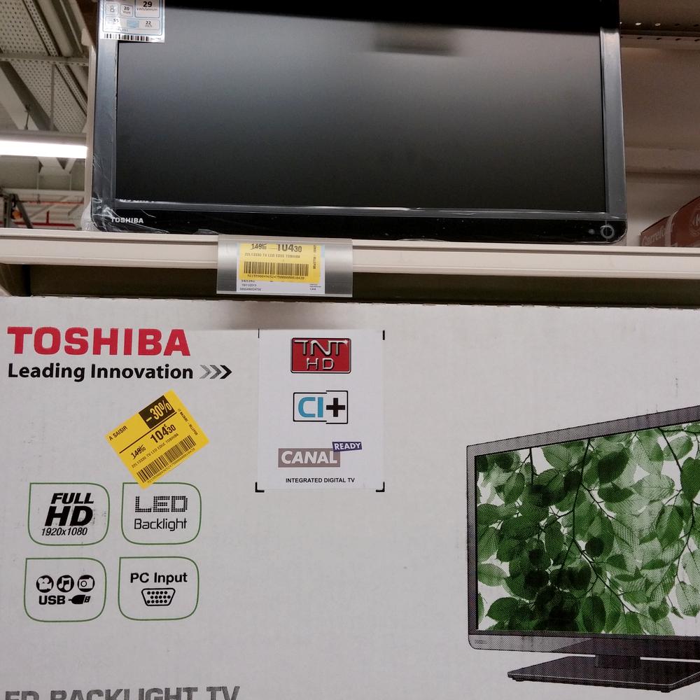 "TV LED 22"" (56 cm) Toshiba 22L1333G - Full HD 1080p - 5 ms - TNT HD - HDMI / VGA ..."