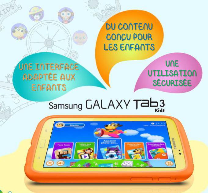 Samsung Galaxy Tab 3 Kids Tablette tactile enfant 7 pouces