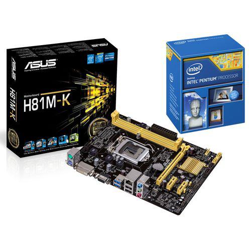 Processeur Intel Pentium G3220 - 3Ghz + Carte mère Asus H81M-K