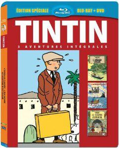 Tintin en blu-ray+dvd  3 aventures - Vol. 2 : L'ïle noire + L'oreille cassée + Le Sceptre d'Ottokar