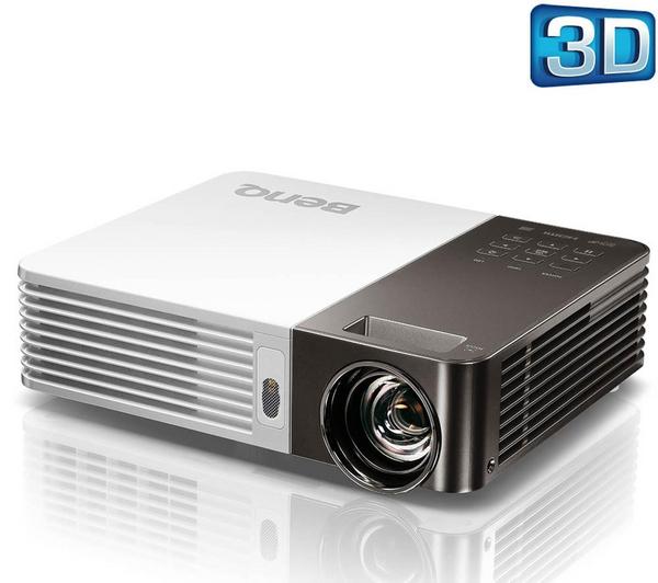 Vidéoprojecteur LED 3D 720P, wifi, lecteur de cartes, sacoche incluse Benq  GP10