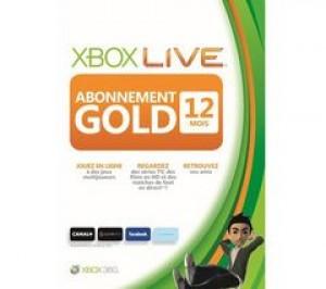Abonnement GOLD Xbox live 12 mois