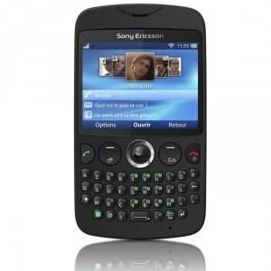 Téléphone portable sans abonnement Sony Ericsson TXT noir, blanc ou rose avec ODR (-30€)