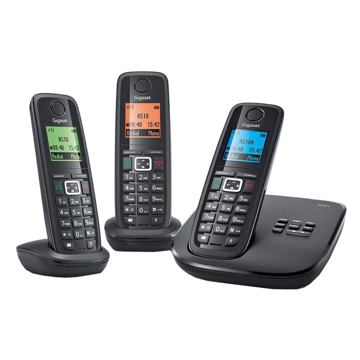 Téléphone sans fil Gigaset A510 A Trio Répondeur / Via Buyster à 49.9€, sinon