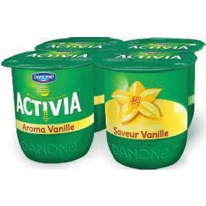 3 lots de yaourts Danone Activia Saveurs x4