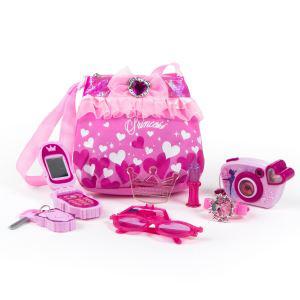 Ensemble Princesse sac à main, téléphone, appareil photo, clef, lunettes et montre
