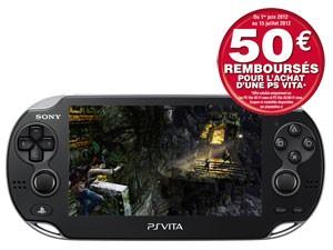 Playstation Vita (PSvita) Wifi avec ODR (50€) et code promo