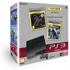 Console Sony Playstation 3 Slim 320 Go + GT5 + Uncharted 2