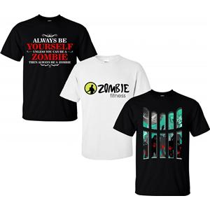 Lot de 3 t-shirts (taille L) 100% coton - thème Zombie