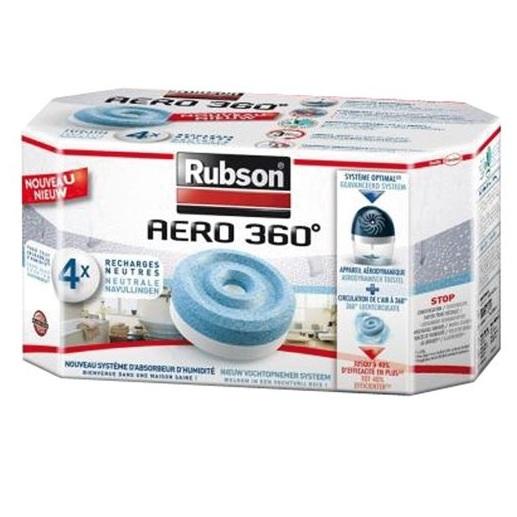 2 lots de 4 recharges d'absorbeurs Rubson (avec appli Merci Qui)