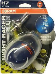 Paire d'ampoules H4 ou H7 OSRAM (Bleuté) pour moto et voiture