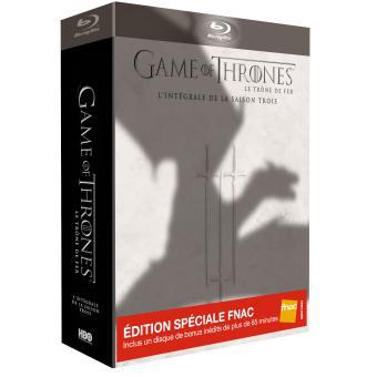 [Précommande/Offre Adhérent] Coffret Blu-Ray  Game of Thrones Saison 3 - Edition Spéciale Fnac Limitée (+ 10 € en chèque-cadeau)