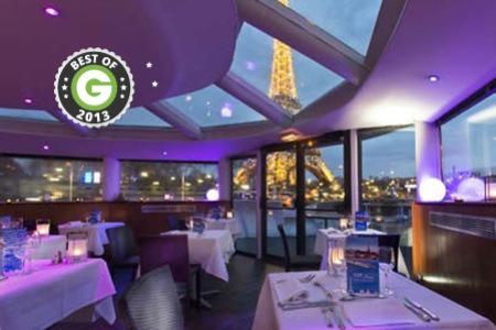 Dîner croisière sur la Seine et nuit romantique pour 2