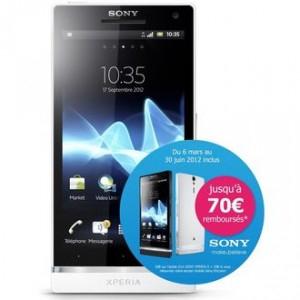 Smartphone SONY Xperia S Blanc avec ODR (jusqu'à -70€)