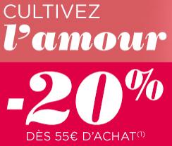 20% de réduction dès 55€ d'achat