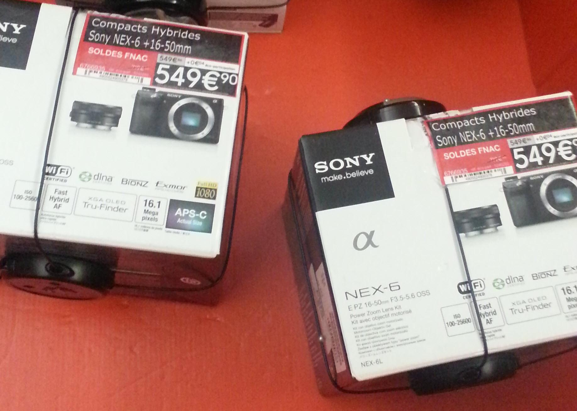 Appareil photo hybride Sony NEX-6B Noir - WiFi intégré + Obj. Sony E PZ 16 - 50 mm f/3.5 - 5.6