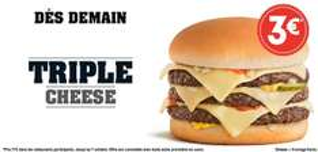 Burger Triple Cheese