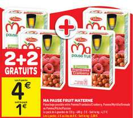 4 Packs de 4 compotes 120g Ma Pause Fruit de Materne