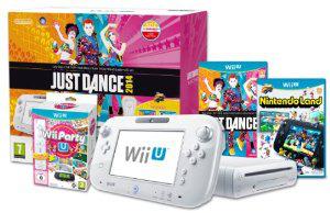 Pack Nintendo Wii U 8Go + Nintendo Land + Just Dance 2014 + Wii Party U avec 2 wiimote