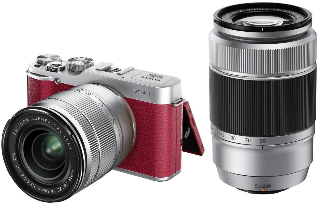 Appareil photo hybride Fujifilm X-A1 Rouge + Objectifs 16-50mm et 50-230mm