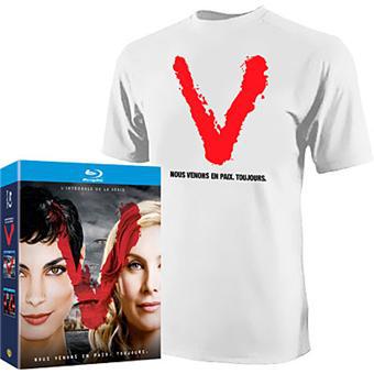 """Coffret Blu-ray """" V """" intégrale des Saisons 1 et 2 - Edition Limitée Inclus le T-shirt"""