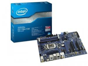 Carte mère Intel DZ77BH-55K Chipset Z77 4 slots DDR3 PCI Express 16x USB3.0 socket LGA 1155 avec ODR (19€)