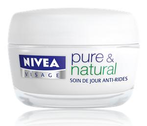 Promotions sur les soins Nivea - Ex: Soin anti-rides Nivea Pure & Natural