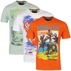 Pack de 3 T-Shirts Homme South Shore (Taille S uniquement)