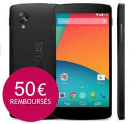 Smartphone Google Nexus 5  Noir 16 Go (Avec ODR de 50€)