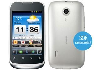Smartphone Huawei Sonic U8650 Blanc avec ODR (30€)