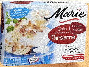 Trois boîtes de Colin d'Alaska cuisiné Marie (soit 1,2kg de poisson)