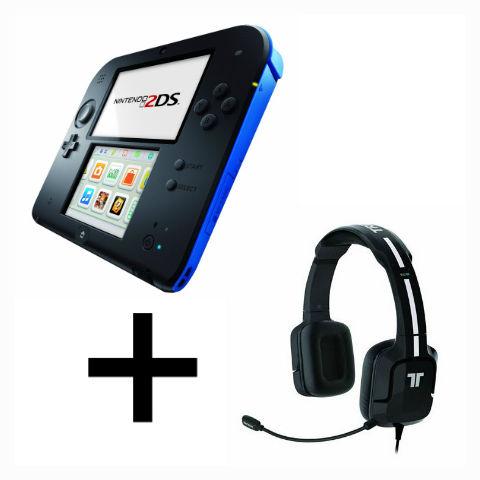 Pack avantage console Nintendo 2DS Bleu + Casque Tritton Noir