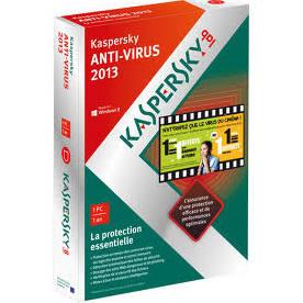 Kaspersky Antivirus OEM - 1 Poste avec 1 an de mises à jour