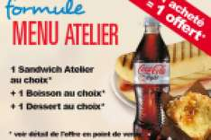 Produits et repas offerts chez Autogrill