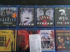 Sélection de Blu-ray (Scream, Kill Bill, Scream 3...)