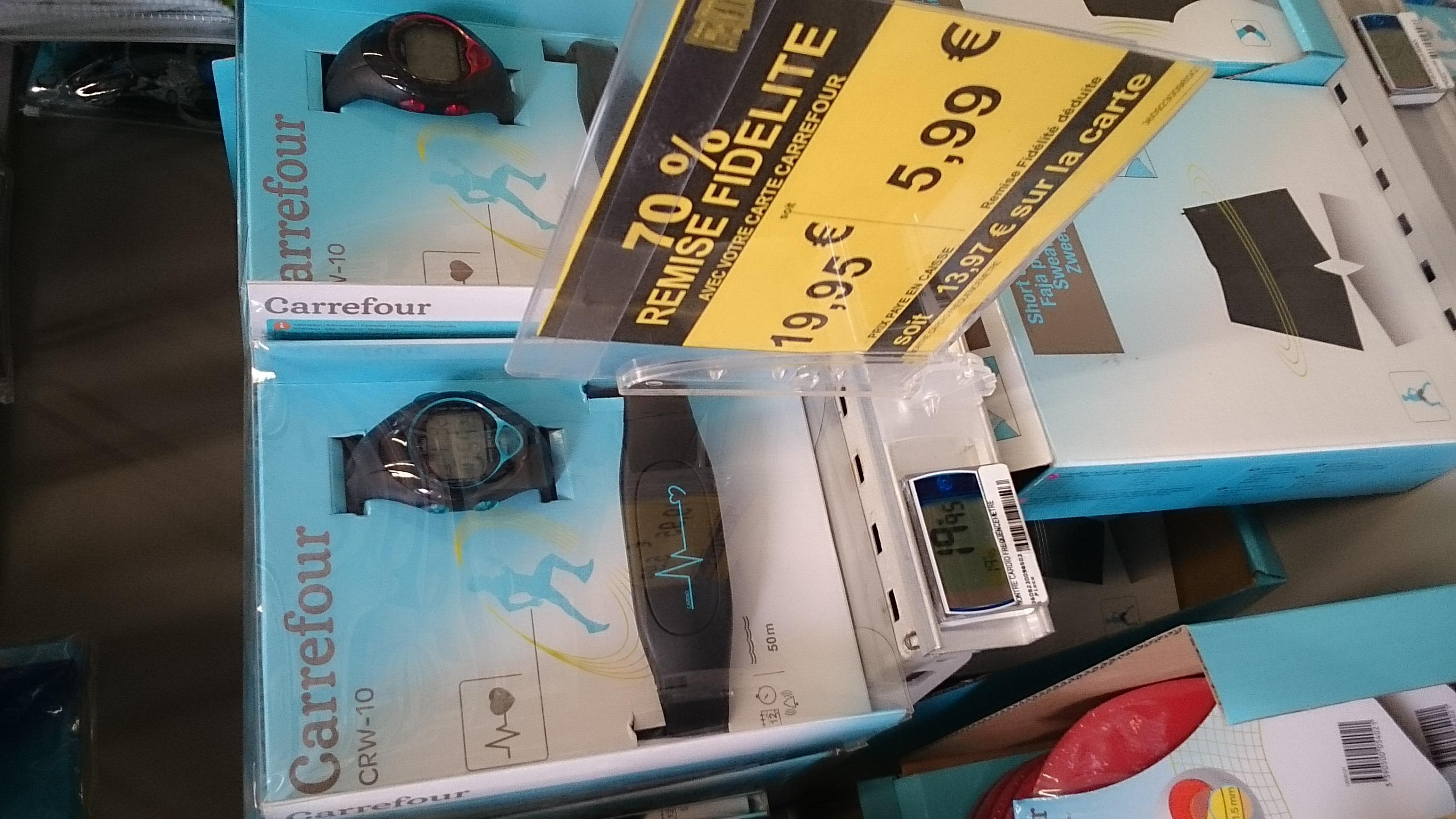 Montre Cardiofréquencemètre Carrefour CRW-10  (avec remise sur carte fidélité)