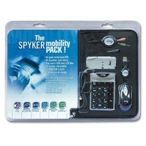 Lot de périphériques pour portable: Spyker Mobility Pack (souris, pavé numérique, etc)
