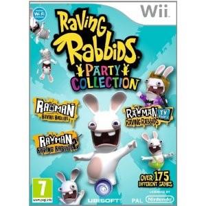 Rayman contre les Lapins Crétins Party collection sur Wii (3 jeux en 1)