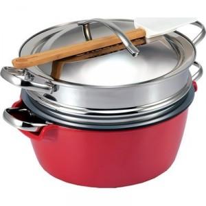 Faitout GREEN PAN Hotpot : faitout + saladier + passoire