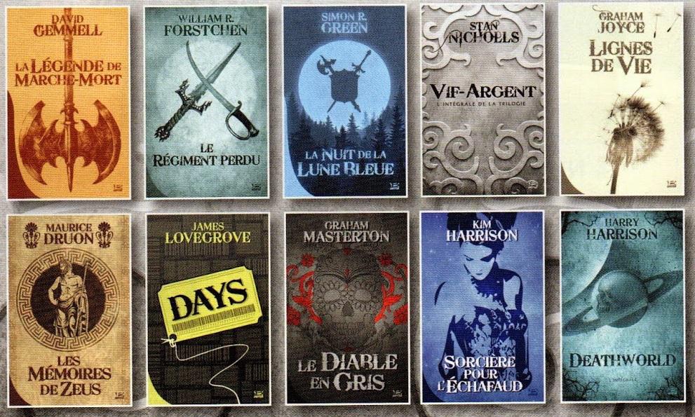 10 livres des Editions Bragelonne