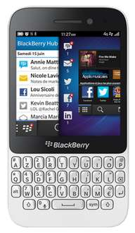 "Smartphone Blackberry Q5 Blanc - Ecran 3.1"", 4G, 5MP, 8Go"