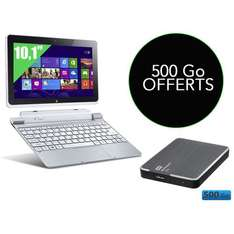 Pack Tablette Acer Iconia W510 + Disque dur externe WD My Passport Ultra 500Go USB 3.0