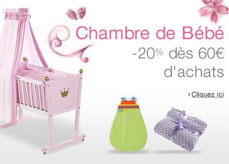 20% de remise dès 60€ d'achats dans les gammes chambre de Bébé Naf Naf et Pinolino
