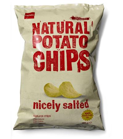 Paquet de chips (nature, paprika ou bolognaise) 125g /Livraison gratuite